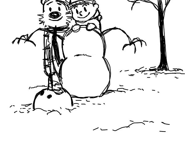 calvin and hobbes MURDER A SNOWMAN
