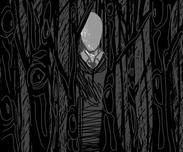 scary slender man