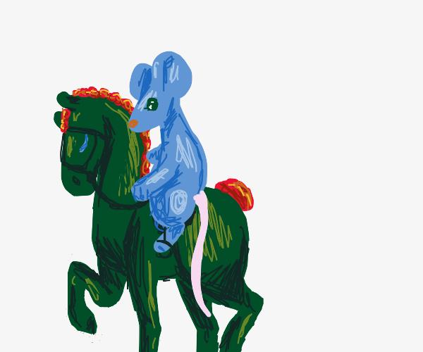 Mouse riding a horse