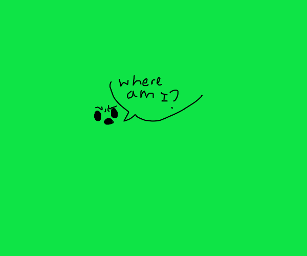 Green guy asks where he is