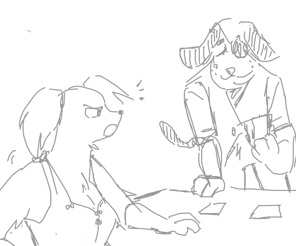 Two dog furries