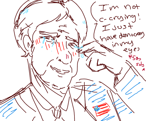 Presidential candidate says he isn't crying