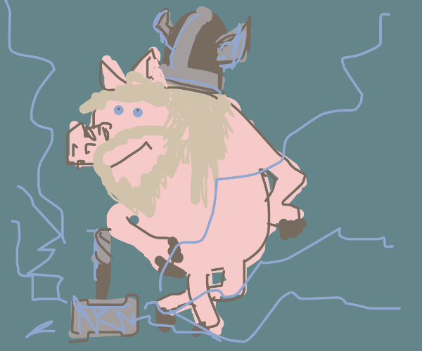 Pig with hammer