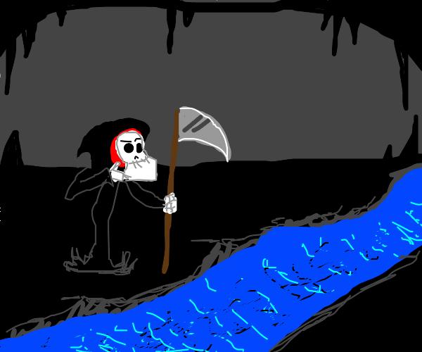 Reaper can't cross river