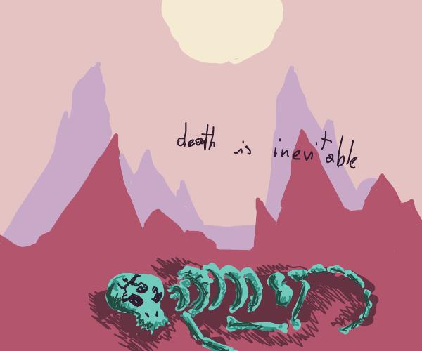 Monster bones talk about how death=inevitable
