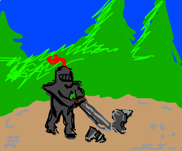 Knight has sidequest to destroy anvil