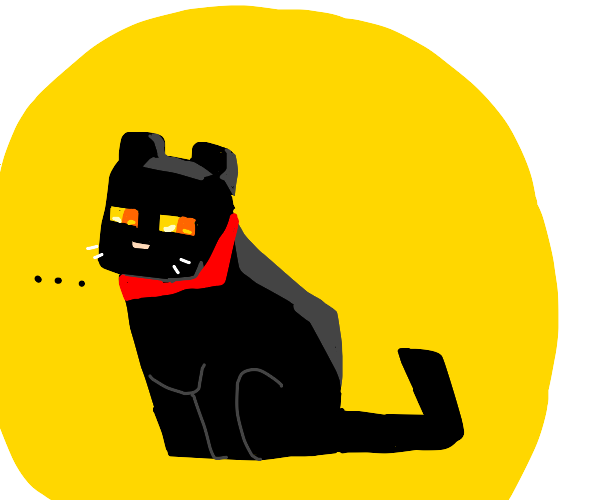Minecraft Black Cat
