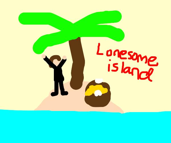 Robinsonfound goldtreasure on lonesome island