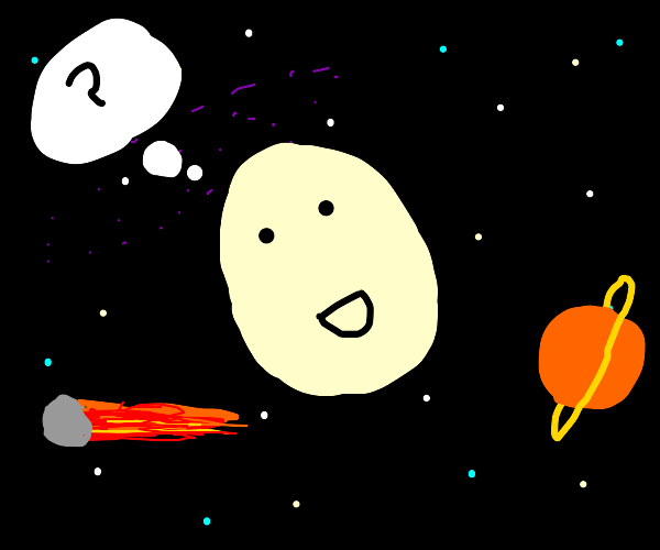 Egg man is in space and doesn't get why