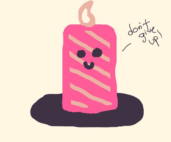 motivational candle