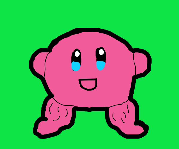 Kirby with thicc legs