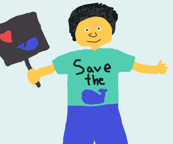 Save the Whales activist