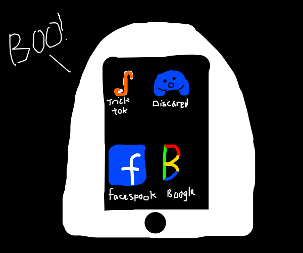 Ghost phone with spooky apps