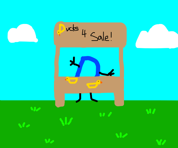 Drawception trying to sell ducks