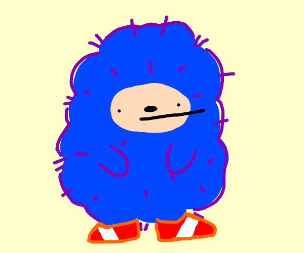 Sonic is extremely floofy