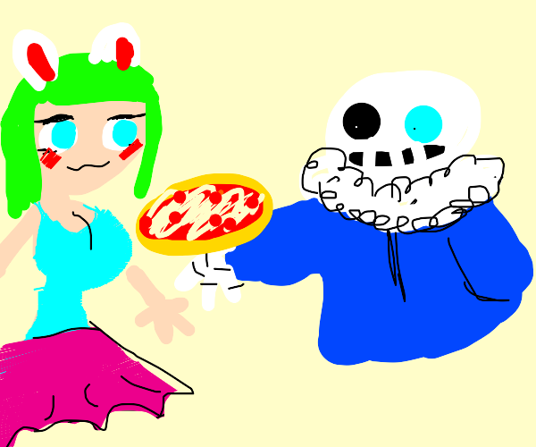 sans dishing pizzas at you