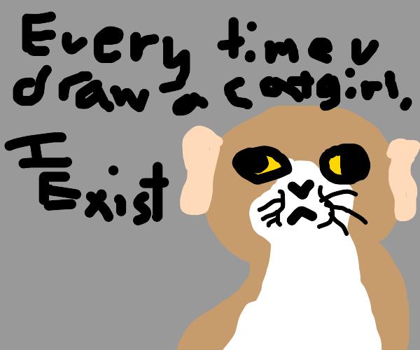 evrytme u draw a catgirl, cat gets human ears