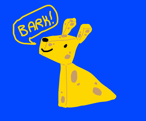 dog but its a cheese dog (with holes)