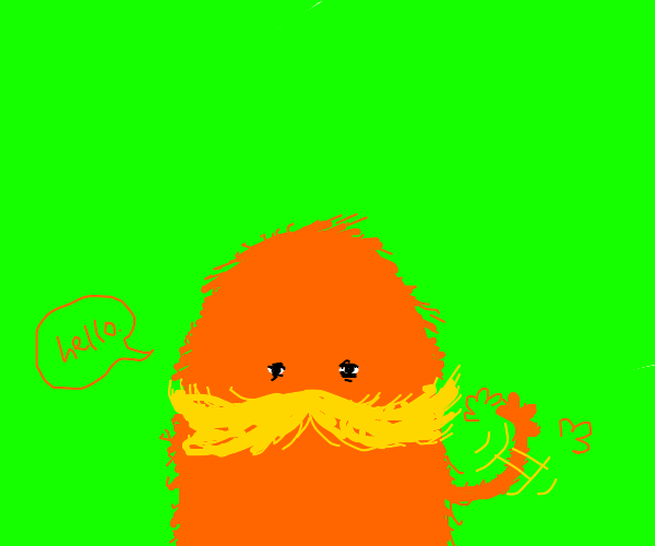 The Lorax(?) Waves at you : )