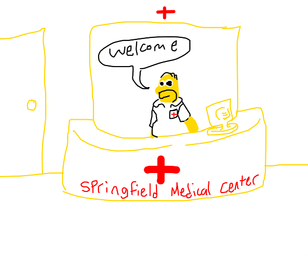 Homer Simpson is medical worker