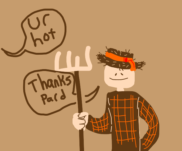 Whoever thinks person w/straw hat is hot
