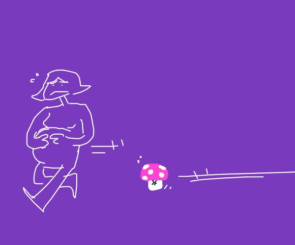 mario mushroom chases pregnant woman
