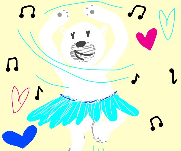 A dancing polar bear
