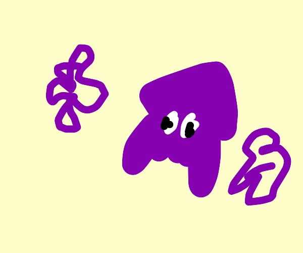 Purple Splatoon Squid