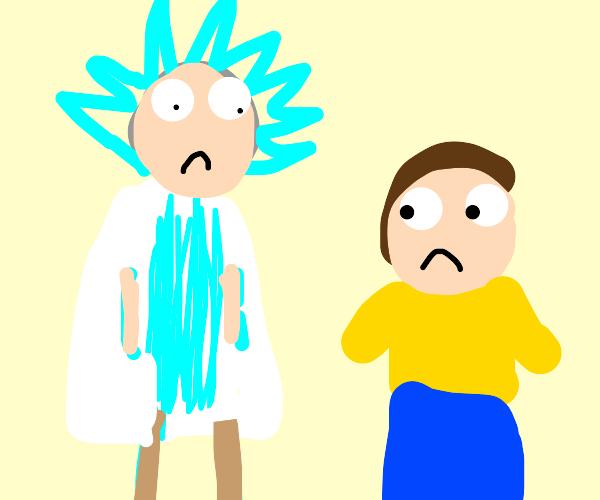 Sad Rick and Morty