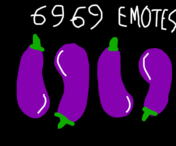 Sanikku thanks y'all for 6,969 emotes! niceee