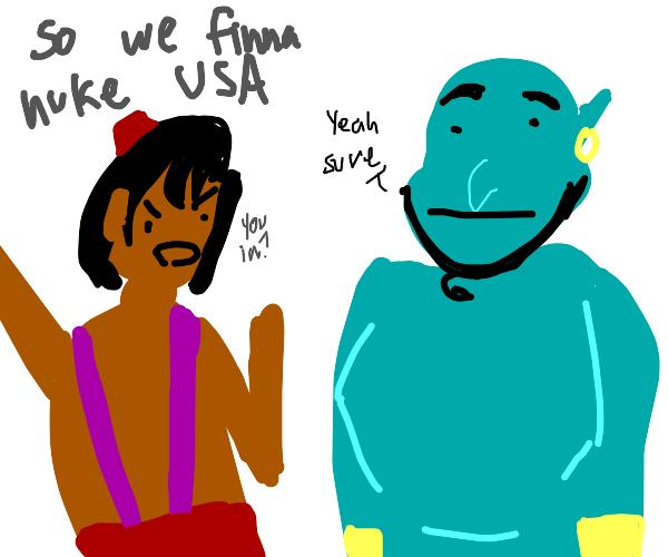Aladdin and Genie plan to nuke the USA