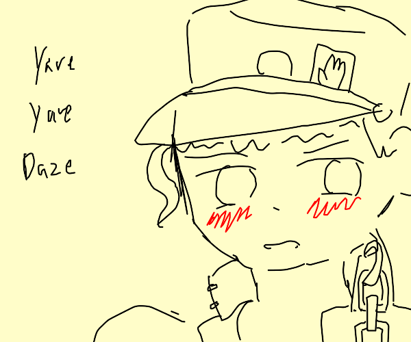 Jotaro [jjba] Is flustered