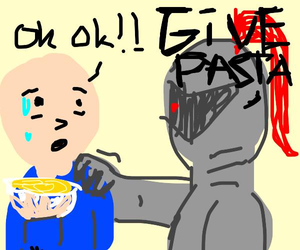 knight wants pasta