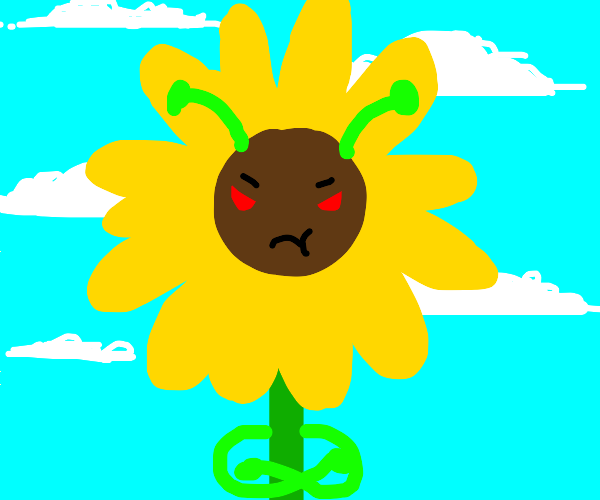 Angry alien sunflower