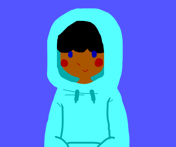 Guy in a hoodie smiling at you