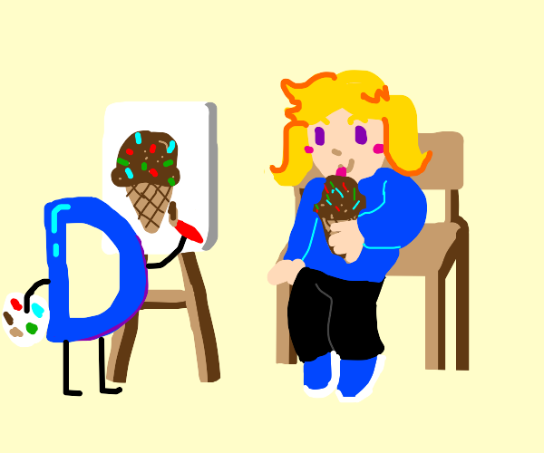drawception logo draws chocolate ice cream :)