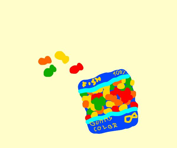 gummy bear colored fish