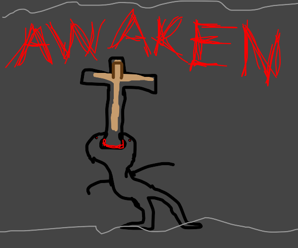 boy vomits Jesus who is buried?