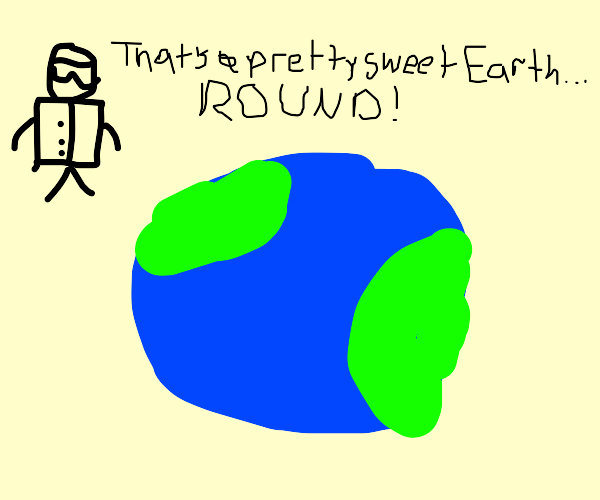 Scientist studying earth