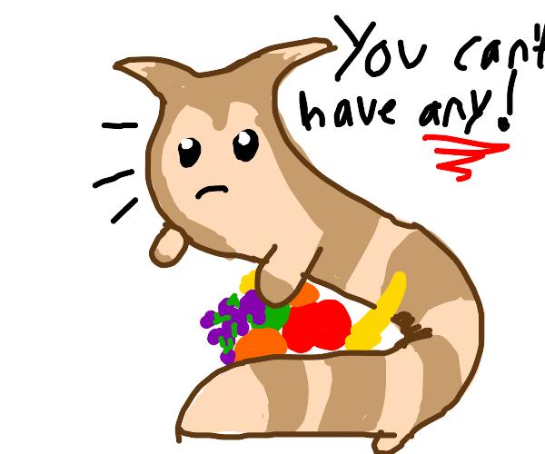 furret doesnt share food