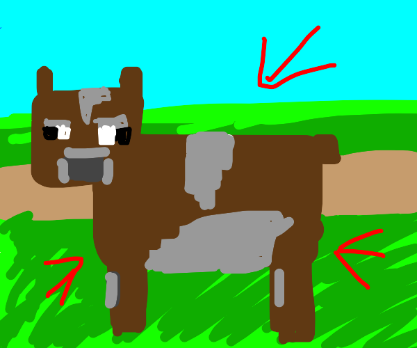 Brown Cow in MineCraft