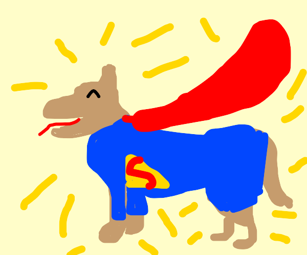 Superman but as a dog.