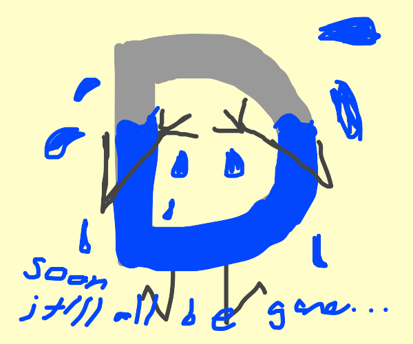 Drawception D crying out all it's blueness