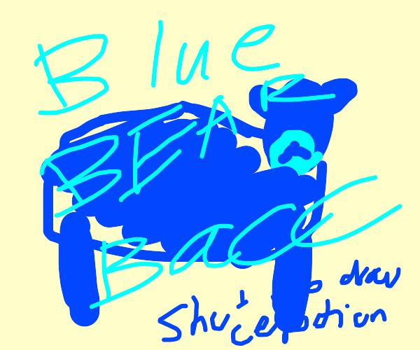 Blue bear is back.