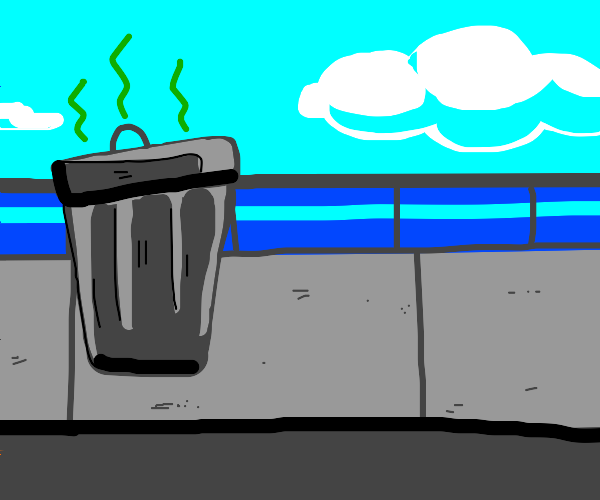 Stinky garbage can