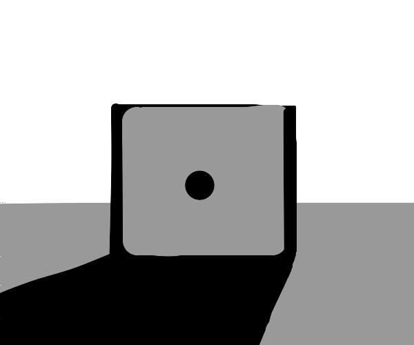 A die with a single pip