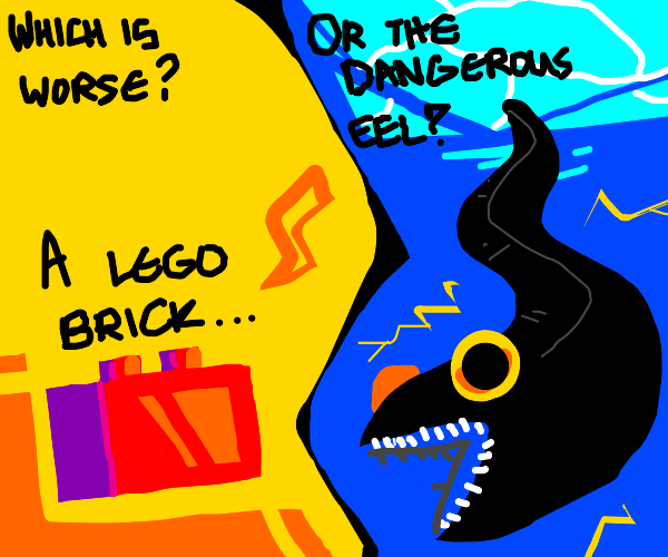 Which is worse? Lego brick vs Electric Eel!