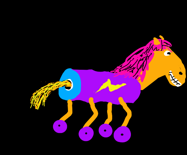 Electric horse on wheels