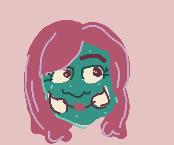 red haired goblin girl