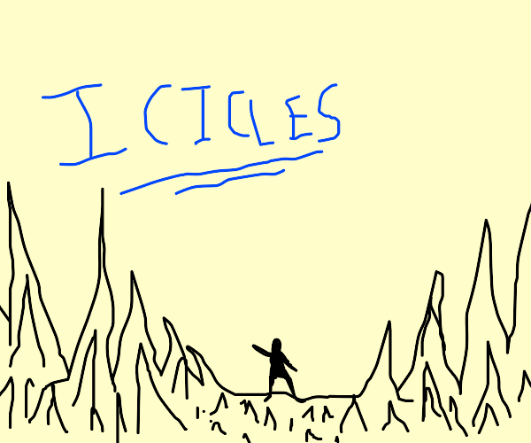 Dancing in a field of icicles